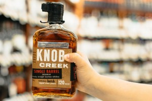 SpartanNash's exclusive Knob Creek bourbon bottle